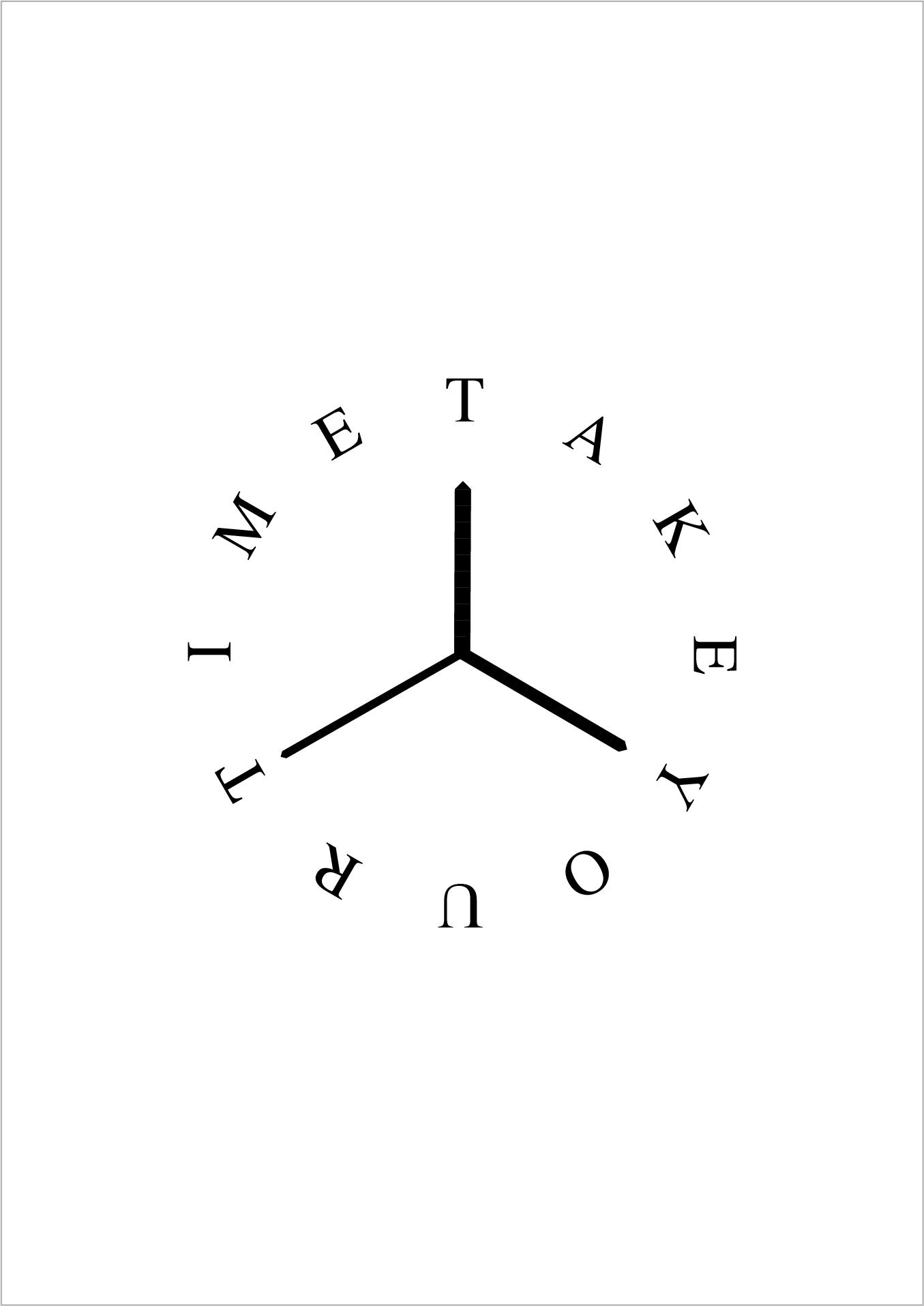 TAKE YOUR TIME Plakat i projekt tarczy zegara